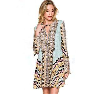 🆕{Free People} Tegan Border Print Dress